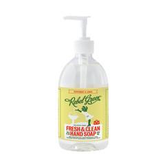 REBEL GREEN PEPPERMINT/LEMON HAND SOAP 16.9 OZ PUMP BOTTLE