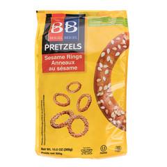 B&B SESAME PRETZEL RINGS 10.6 OZ POUCH