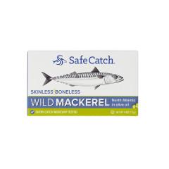 SAFE CATCH SKINLESS BONELESS MACKEREL IN OIL 4 OZ CAN