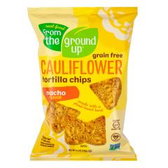 FROM THE GROUND UP CAULIFLOWER NACHO TORTILLA CHIPS 4.5 OZ BAG