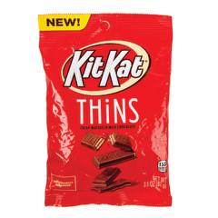 KIT KAT THINS MILK CHOCOLATE 3.1 OZ PEG BAG