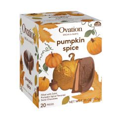 OVATION BREAK APART PUMPKIN SPICE MILK CHOCOLATE 5.53 OZ BOX
