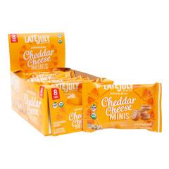 LATE JULY ORGANIC MINI CHEESE SANDWICH CRACKERS 1.13 OZ BAG
