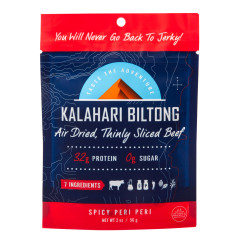 KALAHARI BILTONG SPICY PERI PERI BEEF 2 OZ POUCH