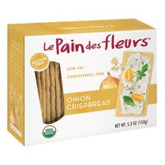 LE PAIN DES FLEURS ONION CRISPBREAD 4.4 OZ BOX