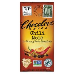 CHOCOLOVE CHILI MOLE 70% DARK 3.2 OZ BAR