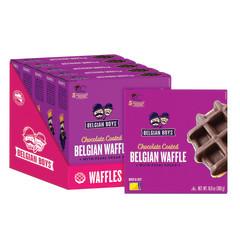 BELGIAN BOYS - CHOCOLATE BELGIAN WAFFLES(5CT) - 10.58OZ