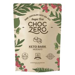 CHOCZERO NO SUGAR ADDED KETO BARK MILK CHOCOLATE HAZELNUT 6 OZ