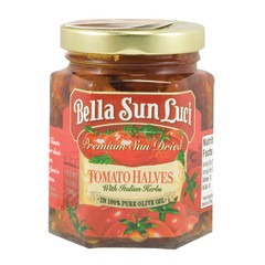 BELLA SUN SUN-DRIED TOMATO HALVES IN OIL 7 OZ JAR
