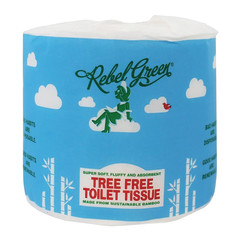 REBEL GREEN TOILET TISSUE BAMBOO SINGLE 40 CT ROLLS