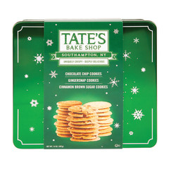 TATE'S 3 FLAVOR ASSORTMENT HOLIDAY COOKIE 14 OZ TIN