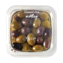DELALLO OLIVE MEDLEY SEASONED 8 OZ TUB