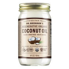 DR. BRONNER'S WHITE KERNEL COCONUT OIL 14 OZ JAR