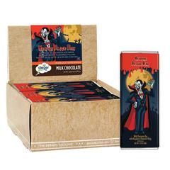 AMUSEMINTS VAMPIRE BLOOD MILK CHOCOLATE RED GOOEY CENTER 1.75 OZ BAR