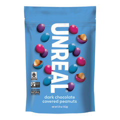 UNREAL DARK CHOCOLATE PEANUT GEMS 6 OZ POUCH