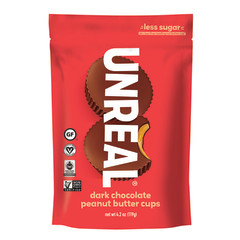UNREAL DARK CHOCOLATE PEANUT BUTTER CUPS 4.2 OZ POUCH