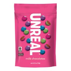 UNREAL MILK CHOCOLATE GEMS 6 OZ POUCH