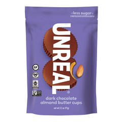 UNREAL DARK CHOCOLATE ALMOND BUTTER CUPS 3.2 OZ POUCH
