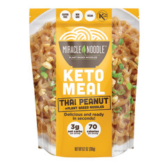 MIRACLE NOODLE KETO THAI PEANUT MEAL 9.2 OZ POUCH