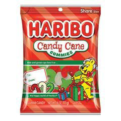 HARIBO CANDY CANE GUMMIES 4 OZ PEG BAG