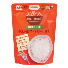 MIRACLE NOODLE ORGANIC READY TO EAT FETTUCCINE STYLE NOODLES 7 OZ POUCH