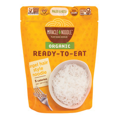 MIRACLE NOODLE ORGANIC READY TO EAT ANGEL HAIR STYLE NOODLES 7 OZ POUCH
