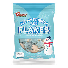 CLEVER CANDY ALL OF MY FRIENDS ARE FLAKES PEG BAG