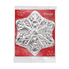 CLEVER CANDY MILK CHOCOLATE FOILED SNOWFLAKE 3 OZ