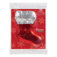 CLEVER CANDY MILK CHOCOLATE FOILED STOCKING 3 OZ