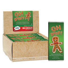 CLEVER CANDY OH SNAP! MILK CHOCOLATE GINGERBREAD 2 OZ BAR