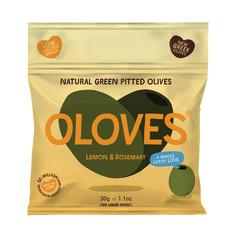 OLOVES LEMON & ROSEMARY PITTED OLIVES 1.1 OZ