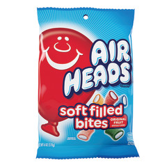 AIRHEADS SOFT FILLED BITES 6 OZ PEG BAG
