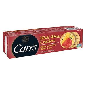 Carr S Whole Wheat Crackers 7 Oz Box