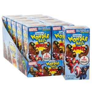 Wonder Ball Mini Marvel Chocolate Surprise 1 41 Oz Box