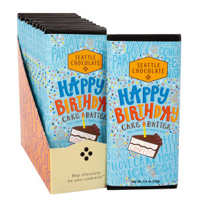 Seattle Chocolates Happy Birthday Cake Batter 25 Oz Bar