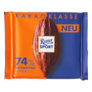 Ritter Sport Kakao Klasse 74 Intense Chocolate From Peru 3 5 Oz