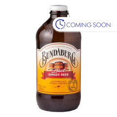 BUNDABERG DIET GINGER BEER SODA 4 PACK 12.7 OZ BOTTLE