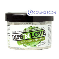 DIPS'N LOVE ARTICHOKE SPINACH GREEK YOGURT DIP 8.2 OZ JAR