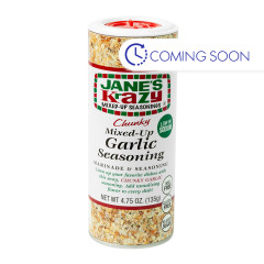 JANE'S KRAZY MIXED UP CHUNKY GARLIC 4.75 OZ SHAKER