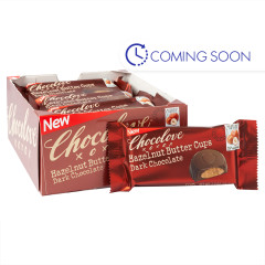 CHOCOLOVE DARK CHOCOLATE HAZELNUT BUTTER CUPS 1.2 OZ