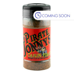 PIRATE JONNY'S CAJUN PIRATE SEASONING 3 OZ SHAKER
