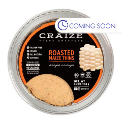 CRAIZE ROASTED MAIZE THINS 5.2 OZ TUB