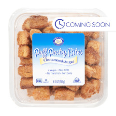 BARRY'S BAKERY CINNAMON & SUGAR PUFF PASTRY BITES 8.5 OZ TUB