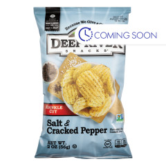 DEEP RIVER SALT & CRACKED PEPPER KRINKLE CUT KETTLE CHIP 2 OZ BAG