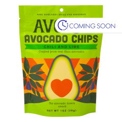 AVOLOV CHILI LIME AVOCADO CHIPS 1 OZ PEG BAG
