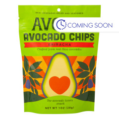 AVOLOV SRIRACHA AVOCADO CHIPS 1 OZ PEG BAG