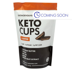 EATING EVOLVED COFFEE KETO CUPS 5.18 OZ POUCH