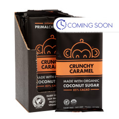 EATING EVOLVED CRUNCHY CARAMEL 85% CACAO CHOCOLATE 2.5 OZ BAR