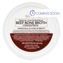 BIRTHRIGHT BEEF BONE BROTH CONCENTRATE 6 OZ TUB