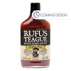 RUFUS TEAGUE SUGAR FREE SLIM N SWEET BBQ SAUCE 13 OZ BOTTLE